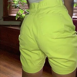 Lime Green Jean shorts